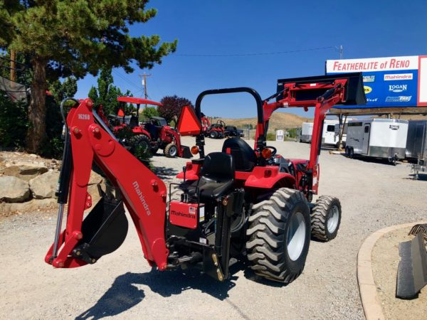 2018 Mahindra 1626 Tractor Loader Backhoe Back Passanger Side Backhoe View Loader Up