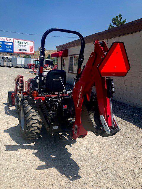 2018 Mahindra Max 26 XL Tractor Backside Backhoe View