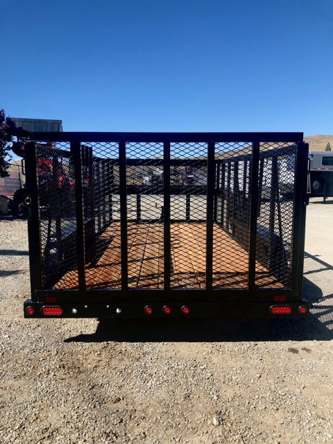 Big Tex 14′ Landscape Utility Trailer Back View