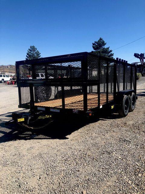 Big Tex 14′ Landscape Utility Trailer Front Driverside View