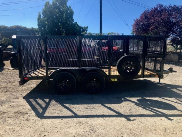 Big Tex 14′ Landscape Utility Trailer Side View