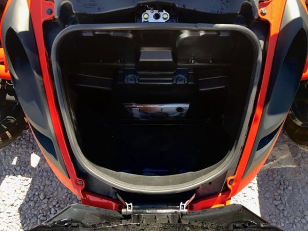 2012 Can-AM Spyder Motorcycle Front Glove Compartment Open Inside View