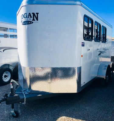 2019 Logan Crossfire 13′ 3 Horse Trailer Front Driverside View
