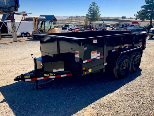 Big Tex 10SR Dump Trailer Posed View