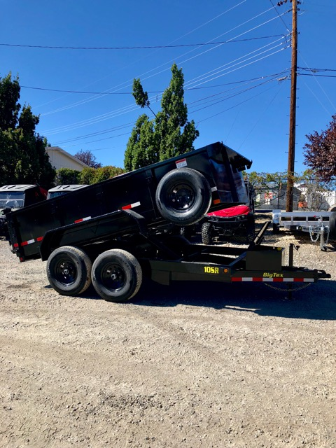 Big Tex 10SR Dump Trailer Side View