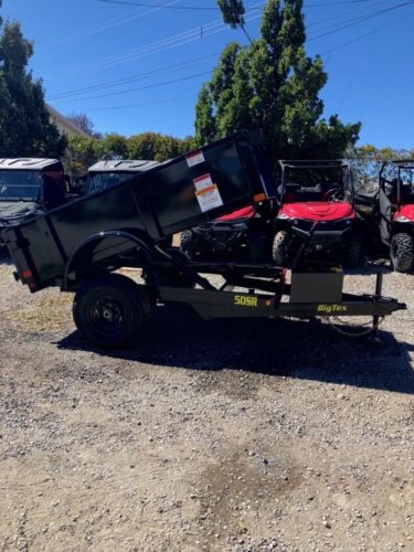 Big Tex 50SR Dump Trailer Posed View