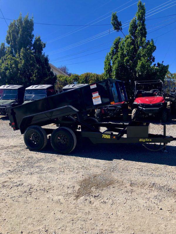 Big Tex 70SR Dump Trailer Posed View