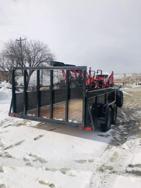 2019 Summit Cascade Open Utility Trailer Backside View