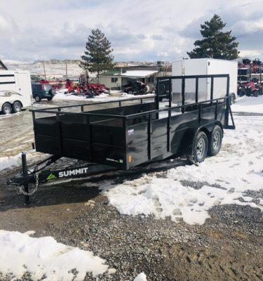2019 Summit Cascade Open Utility Trailer Front Driverside View