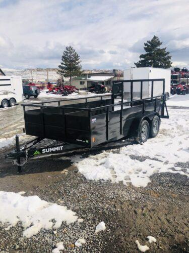 2019 Summit Cascade Open Utility Trailer Front Driverside View