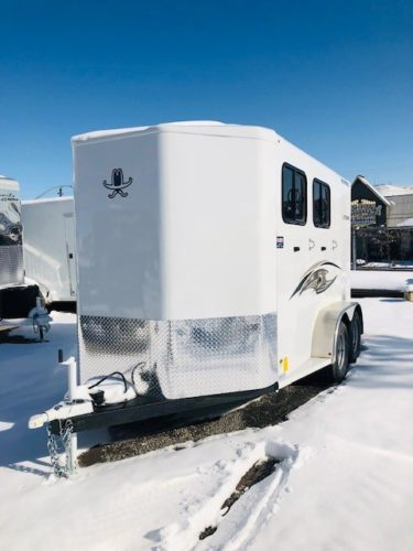Titan 13′ Royal II 2 Horse Trailer Front Driverside View