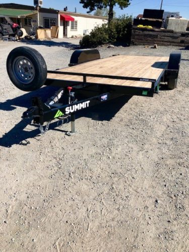 Summit Alpine 16 18 Tilt Trailer Front Driverside View