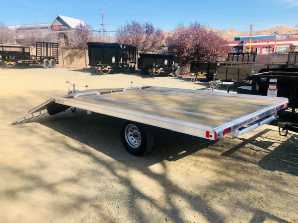 SnoPro 12′ Open Snow Mobile Trailer Back Side View
