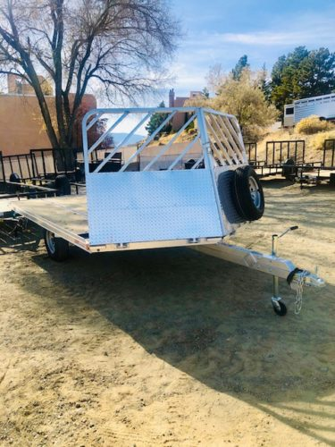 SnoPro 12′ Open Snow Mobile Trailer Front Passanger Side View