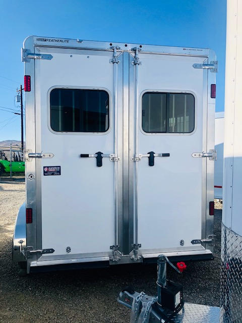 2020 Featherlite 7442 2H Straight Load Trailer Back Side View