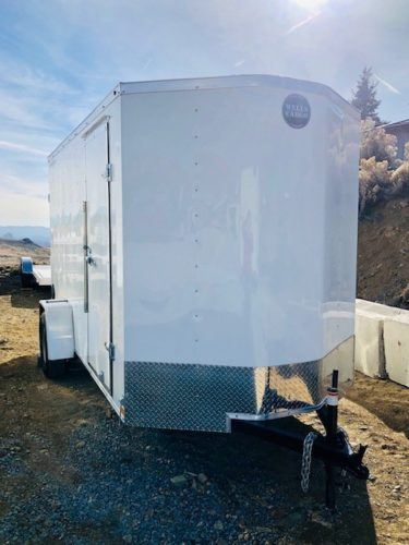12′ Enclosed Fast Track Trailer Front Passanger Side View