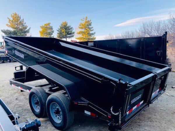 Titan 16′ Dump Trailer Back Driver Side View