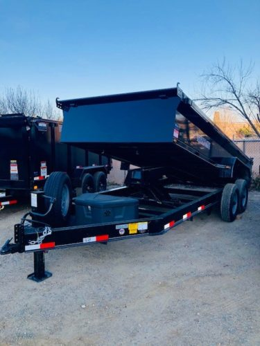 Titan 16′ Dump Trailer Front Driver Side View
