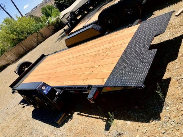 Big Tex 14FT-18′ Trailer Back Driver Side View