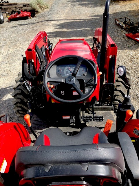 6075 Tractor Loader Seat View